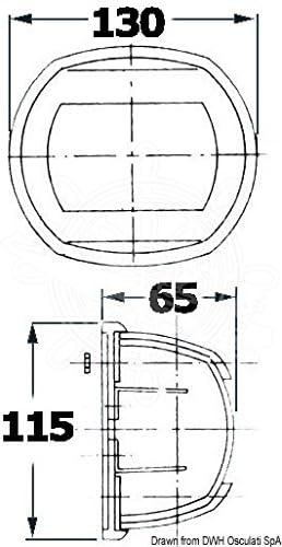OSCULATI Feu de Navigation Maxi 20 AISI 316 112,5° Vert 24V