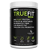 RSP TrueFit Vegan Protein Powder Meal Replacement Shake for Weight Loss, Plant Based Protein, Organic Real Food, Probiotics, Dairy Free, Gluten Free, 2 LB Salted Chocolate