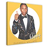 Hiphop Rapper Sänger Pharrell Williams Happy Leinwand