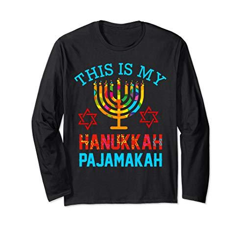 This is My Hanukkah Pajamakah hanukkah jewish pajama gift Long Sleeve T-Shirt