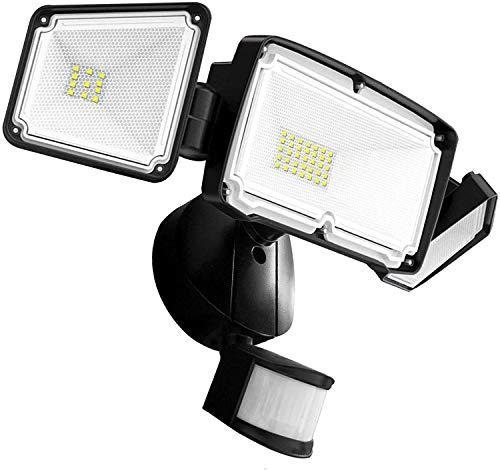 Motion Sensor Light Outdoor, FURANDE LED Security Lights with 3 Adjustable Heads, 42W 6000K 4000LM Super Bright Outdoor Flood Light, IP65 Waterproof for Pathway, Garage, Front Door and Yard