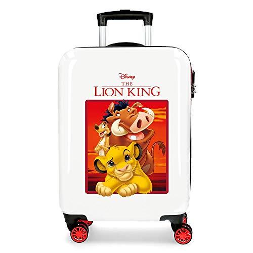 Disney The Lion King Maleta de cabina Rojo 37x55x20 cms Rígida ABS Cierre combinación 34L 2,6Kgs 4 Ruedas Dobles Equipaje de Mano