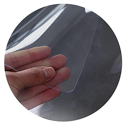 ALGXYQ Protección Piso Alfombra Transparente Antideslizante Esteras para Sillas Protector de Mesa PVC Resistente Al Rayado para Piso Madera Oficina (Color : 3.0mm, Size : 80x120cm)