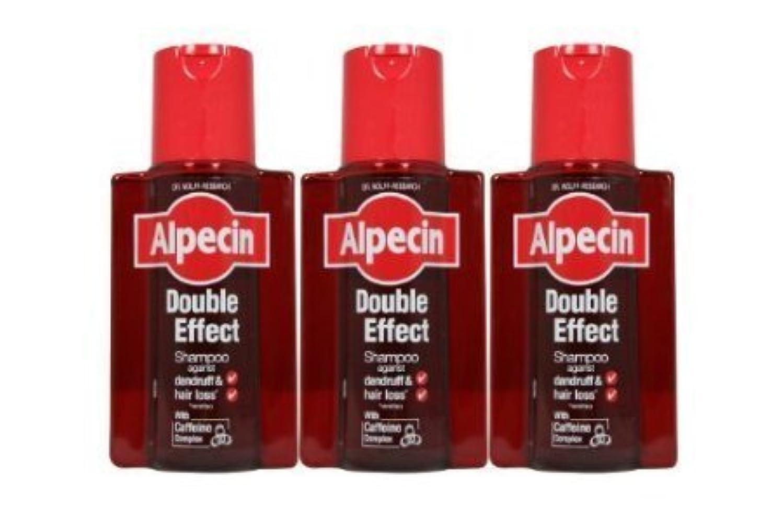 手荷物ガイドライン同行する3 x Alpecin Double Effect Shampoo by alpecin [並行輸入品]