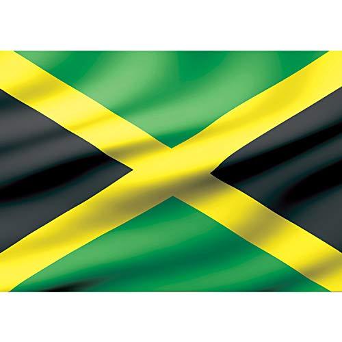 Vlies Fototapete PREMIUM PLUS Wand Foto Tapete Wand Bild Vliestapete - Flagge Fahne Jamaika Land Welt - no. 1928, Größe:152.5x104cm Vlies