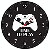 Relógio De Parede Beek Gamer X Beek Geek's Stuff Preto