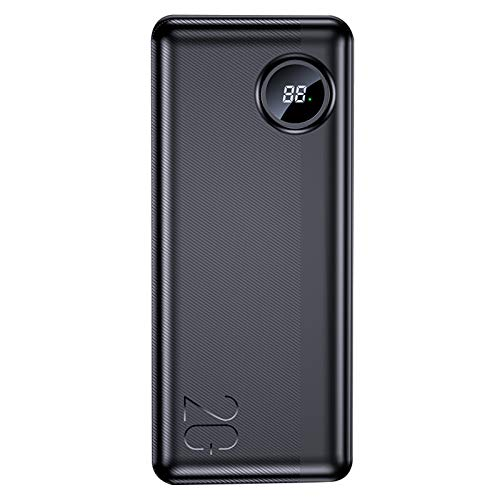 YZCM 20000mAh Banco de Potencia con indicador Digital del LED 63W PD QC3.0 de Carga rápida PowerBank Salidas 2 USB para iPhone Samsung Xiaomi Cambie Macbook