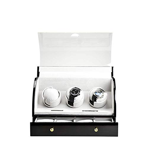 WXDP Enrollador de Reloj automático,Caja de mecánico Shaker, balanceador de Plataforma giratoria para Almacenamiento de Relojes, Control avanzado y Motor silencioso, Pantalla táctil Digital LCD,