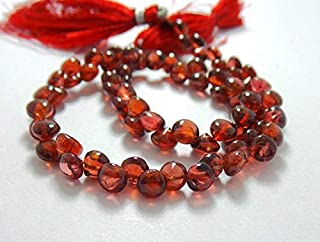 Jewel Beads Natural Beautiful jewellery Natural Mozambique Red Garnet 4x5-5x6 MM Smooth Plain Onion Shape 9 Inch StrandCode:- JBB-43257