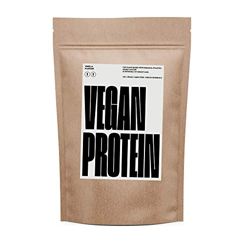 Vegan Protein | No Soy | Added Leucine | B12 | 20g Per Serving | Easy to Mix | 2 Flavours | 30 Servings (Vanilla) | No Dairy | GMO Free