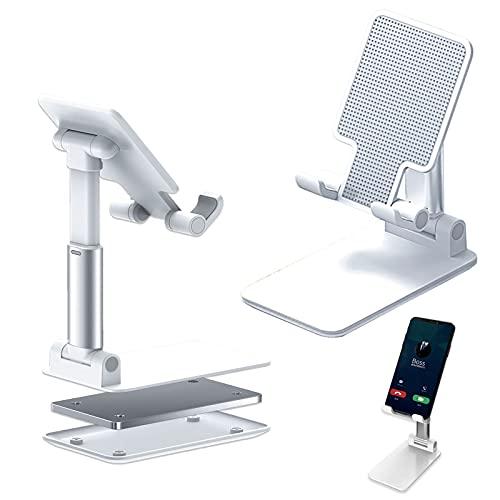 Soporte ajustable para teléfono celular, soporte plegable para tableta para escritorio, ángulo de altura ajustable, compatible con teléfono 11 Pro Xs Xs Max Xr, iPad Mini, Nintendo Switch, tabletas