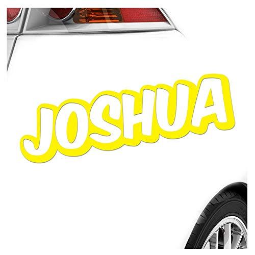 Kiwistar Joshua Vorname Autocollant pour garçon 25 Couleurs Fluo Mat