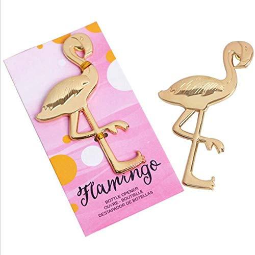 FTFSY 2 Pezzi di Metallo Flamingo Ananas apribottiglie apribottiglie Birra Portachiavi Creativo Apri Vino Birra bomboniera Cucina Bar Strumenti, Fenicottero