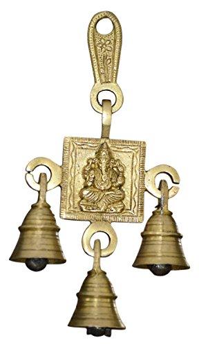 Exotic India Ganesha Bell Brass Statue, 6.5' x 3.5' x 1.2'
