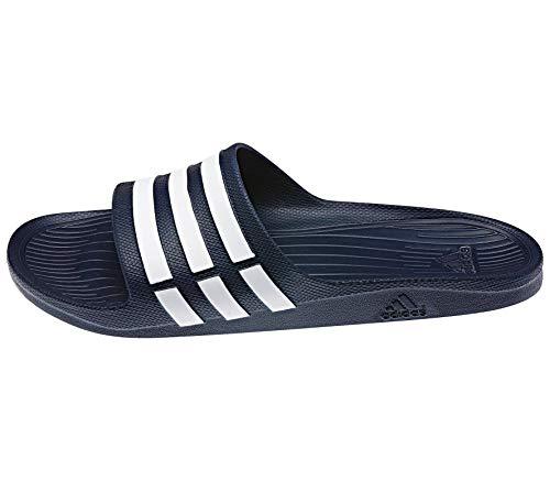 Adidas Duramo Slide, Mules Mixte Adulte - Bleu (New Navy/White/New Navy), 47 EU (12 UK)