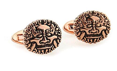 Gudeke Lionhead Runde Manschettenknöpfe (Bronze-)