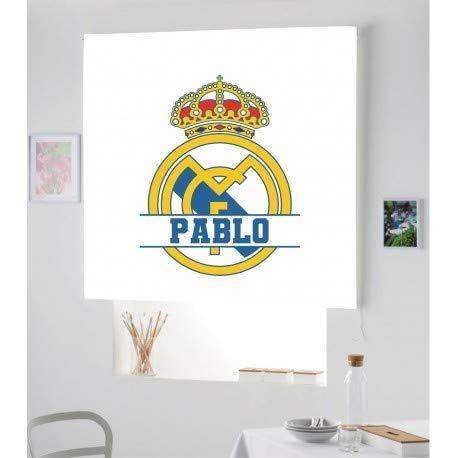Estor Iroa Digital con Nombre Futbol R.Madrid ¡ESTORES ENROLLABLES TRANSLUCIDOS Personalizado con Nombre! (100X170)