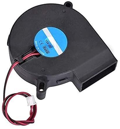 XWSQQ Accesorios de Calidad Ventilador Turbo eléctrico sin escobillas 7525 12V DC 7525 Ventilador 75x75x25mm 3D0013 para Piezas de Impresora 3D Accesorios de impresión 3D