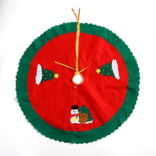 Airoads Falda de árbol de Navidad 30 Pulgadas con Bordes ondulados para Decoraciones navideñas, decoración del hogar de Vacaciones