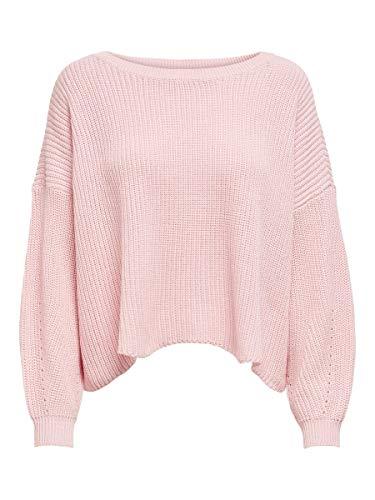 ONLY Damen Pullover onlHILDE L/S Oversize CC KNT, Rosa (Blushing Bride), 36 (Herstellergröße:S)