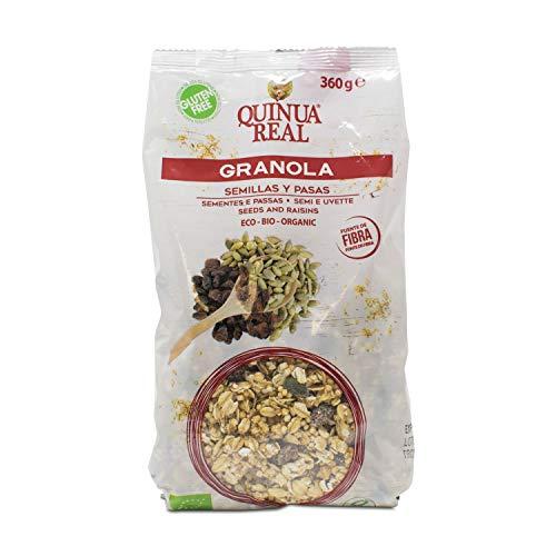 Granola de quínoa real con semillas y pasas sin gluten BIO - Quinua Real - 360g