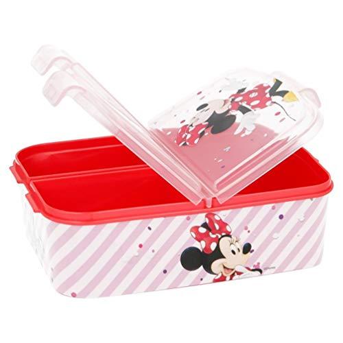 Minnie Mouse Lunchdoos Brooddoos Kinderlunchbox met 3 afzonderlijk afsluitbare compartimenten