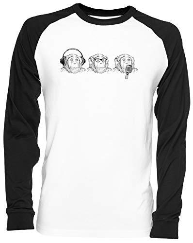 Oír Mal Ver Mal Hablar Mal Blance Camiseta De Béisbol Unisex Tamaño...