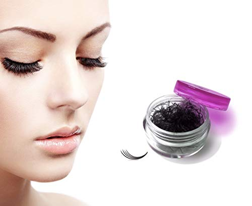 Eyelash Extensions Russian Volume Lashes - Premade 4D Fans Without Glue - Soft Handmade 0.7mm Thickness 5000 Lash Fans (Full Set C Curl)