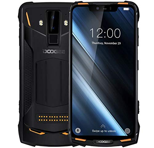 DOOGEE S90 - Outdoor Android 8.1 Smartphone (5050mAh Batterie), Helio P60 Achtkern 6GB+128GB, 6.18'' FHD + Display, IP68/IP69K wasserdicht/stoßfest, 16MP+8MP Smart AI Kamera - Orange