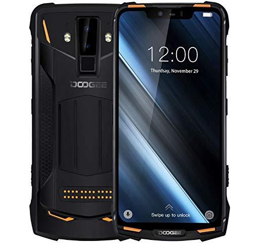 "DOOGEE S90 - IP68/IP69K Impermeable Móvil Libre 4G Dual SIM (batería de 5050 mAh),Helio P60 Ocho Núcleos 6GB+128GB, Android 8.1, Pantalla de 6,18"" FHD+, Cámara Inteligente de 16MP + 8MP - Naranja"