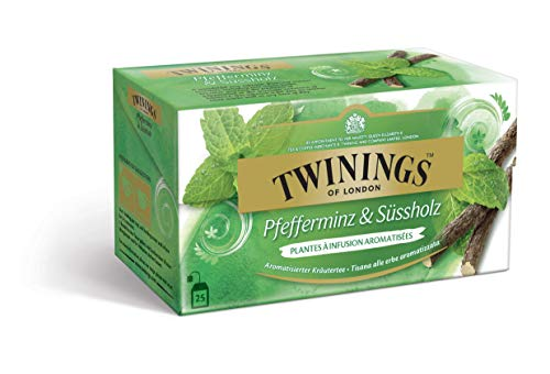 Twinings Pfefferminz und Süßholz Tee im Teebeutel (25 Stück) ∙ Eine köstliche Kombination aus erfrischender Pfefferminze und aromatischem SüssholzKräutertee, Tea 50 g