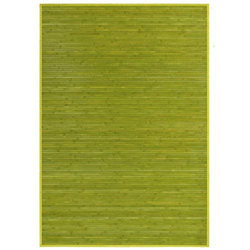 HOGAR Y MAS Alfombra BAMBÚ Natural Verde 140X200