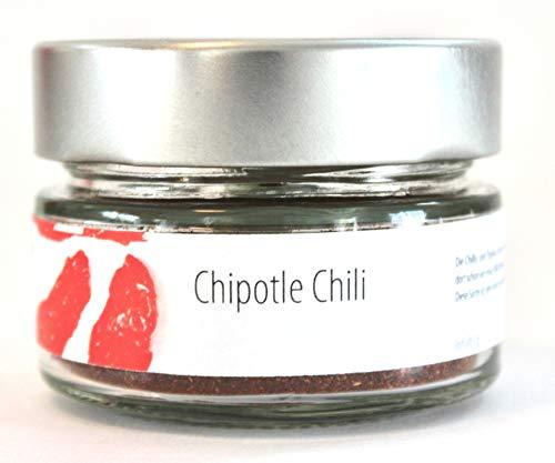 Geropp Gourmet Chipotle Chili Pulver mild geräuchert: Chipotle Chili rot gemahlen im 60g Glas
