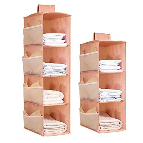 Deuba Organizador de armario set de 2 estanterias colgantes de tela Sistema de Almacenaje 6 compartimentos plegables para armario