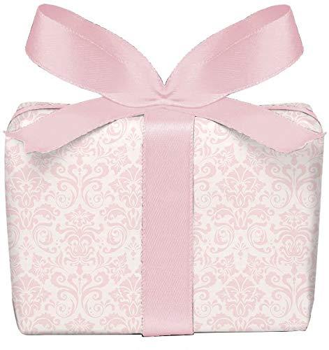 3er Set Geschenkpapier 3 Bögen mit ORNAMENTEN ROSA Mädchen Kinder Kindergeburtstag Baby Geburt Taufe, gedruckt auf PEFC zertifiziertem Papier, 50 x 70 cm