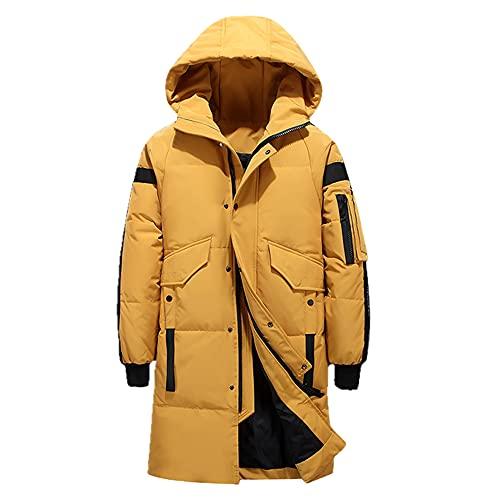 Piumino da uomo invernale Elegante piumino maschile Piumino spesso caldo Abbigliamento da uomo di marca Abbigliamento da uomo Warm Parka- L1910 giallo, M