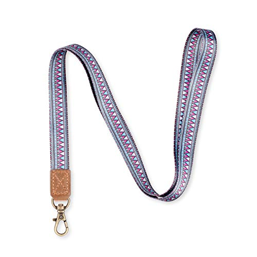BIGPHILO Stylish Lanyard, Retro Key Chain Holder + Printed Webbing Strap, Watercolor Mountain
