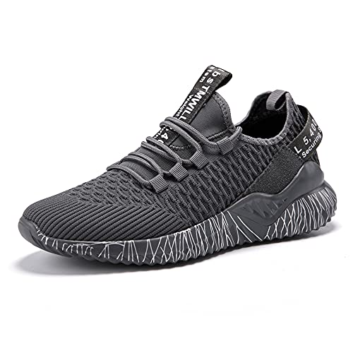 Zapatillas de running para hombre y mujer, zapatillas de deporte, modernas, ligeras, transpirables, para el tiempo libre, 35-42 EU, color Gris, talla 39 EU