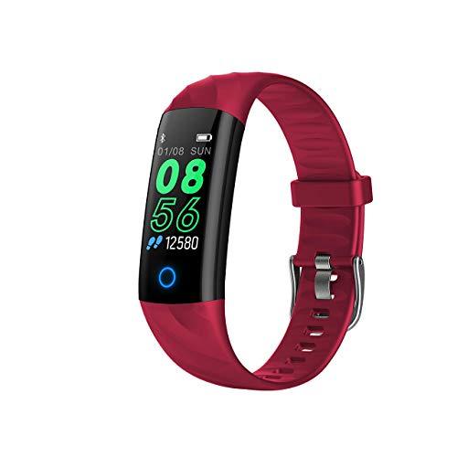 ZDY Fitness Armband mit Blutdruckmessung,0,96 Zoll Farbbildschirm Smartwatch Fitness Tracker mit Pulsmesser IP68 Fitness Uhr Aktivitätstracker Messgeräte Pulsuhr Schrittzähler Uhr für Damen Herren