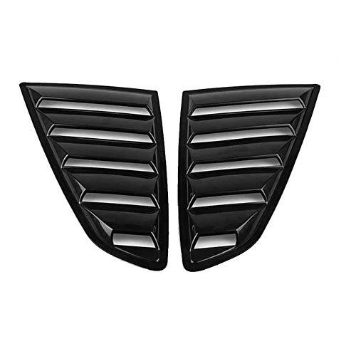 XQRYUB Accesorios de Coche Cubierta de persianas de ventilación Lateral de Ventana Trasera, Apta para Ford Mustang 2015-2020