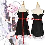 Anime Guilty Crown Yuzuriha Inori Cosplay Costume Halloween Woman Gothic Maid Wear Sling Dress,Black,L