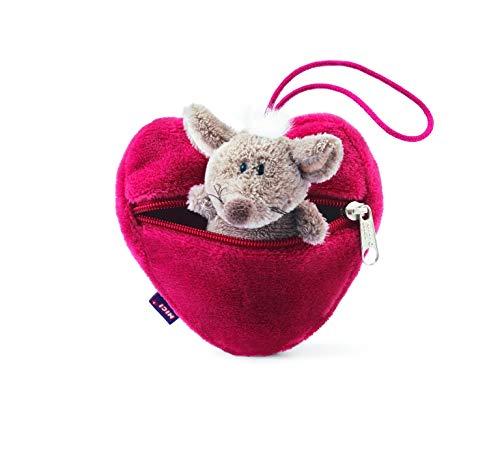 Nici N31350 Plüsch Maus im Herztäschchen rot