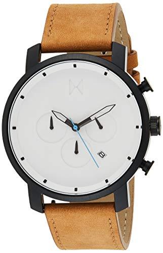 MVMT Herren Chronograph Quarz Uhr mit Leder Armband D-MC01-WBTL