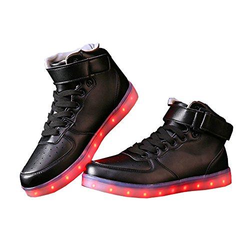 E Support Unisex-Erwachsene Herren Damen 7 Farbe USB Aufladen LED Leuchtend Sport Schuhe Sportschuhe Sneaker Turnschuhe für Abschlussball-Partei Valentinstag Weihnachtsgeschenkkostenlos