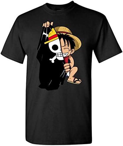 Geek3C Monkey D Luffy Flag One Piece Anime T Shirt Black product image