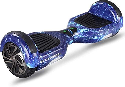 6.5' Patinete eléctrico Bluewheel HX310s - Marca de calidad alemana - Hoverboard con Sistema de Seguridad para niños a través de App, Altavoz Bluetooth y Luces LED, 2 Motores de 700W, Patín Dos Ruedas