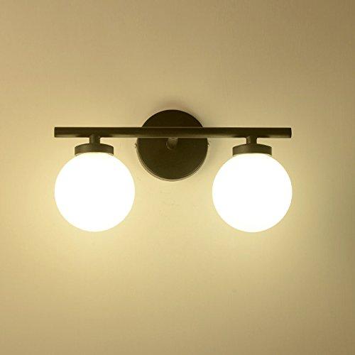 Moderne/Simple Applique LED Métal Circulaire Personnalité Contemporaine Décor Luminaire Boule De Verre Double Tête Lampe Murale Convient Pour La Maison Loft Couloir Chevet éclairage De Salon 3W