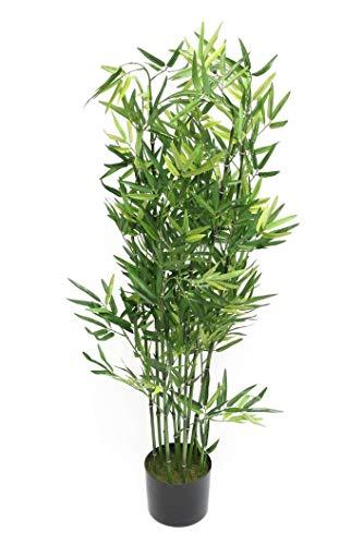 Deko-Bambus im Topf, 115 cm hoch, Zierpflanze, Büropflanze, Kunstpflanze