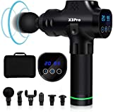 Massage Gun Deep Tissue Percussion Muscle Massager for Pain Relief,Handheld Electric Body Massager Sports Drill Portable Super Quiet Brushless Motor, [Upgrade] 20Speeds Percussion Massage Feeke X3 Pro