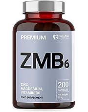 Zink, Magnesium, Vitamine B6 |Hoge Sterke + Gemakkelijk in te slikken| Vermindert Vermoeidheid, Verbetert Slaap, Toeneemt Testosteronniveaus | Gemaakt in het VK door Mayfair Nutrition